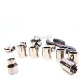 Conjunto de la llave de socket Foto de archivo libre de regalías