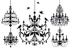 Conjunto de la lámpara, vector Fotografía de archivo