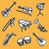 Conjunto de la música Imagen de archivo libre de regalías