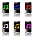 Conjunto de la música del jugador MP3 Imagen de archivo