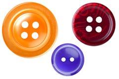 Conjunto de la macro de costura del botón Foto de archivo libre de regalías