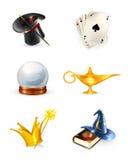 Conjunto de la magia stock de ilustración