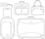 Conjunto de la maleta stock de ilustración