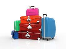 Conjunto de la maleta Imágenes de archivo libres de regalías