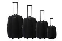Conjunto de la maleta o de la carretilla Imagen de archivo libre de regalías