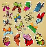 Conjunto de la mariposa del vector Fotos de archivo