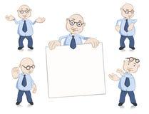 Conjunto de la mascota del hombre de negocios Imagen de archivo