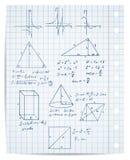 Conjunto de la matemáticas y de la geometría Fotografía de archivo