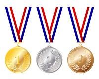 Conjunto de la medalla Imagen de archivo libre de regalías