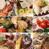 Conjunto de la mezcla del alimento Imagenes de archivo
