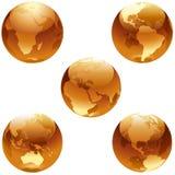 Conjunto de la miel de la tierra ilustración del vector