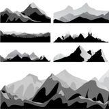 Conjunto de la montaña Imágenes de archivo libres de regalías