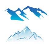 Conjunto de la montaña stock de ilustración
