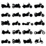 Conjunto de la motocicleta Foto de archivo