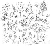 Conjunto de la naturaleza y del ambiente Fotografía de archivo libre de regalías