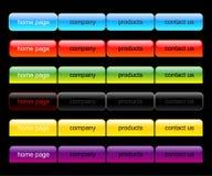 Conjunto de la navegación del Web Stock de ilustración