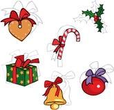 Conjunto de la Navidad Fotos de archivo libres de regalías