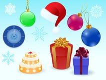 Conjunto de la Navidad Imagen de archivo libre de regalías