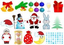 Conjunto de la Navidad Imagenes de archivo