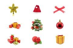 Conjunto de la Navidad Foto de archivo libre de regalías