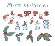 Conjunto de la Navidad Fotografía de archivo libre de regalías