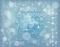Conjunto de la Navidad Imágenes de archivo libres de regalías