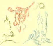 Conjunto de la Navidad para el diseño Imagen de archivo