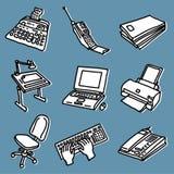 Conjunto de la oficina ilustración del vector