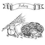 Conjunto de la panadería Imagen de archivo