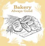 Conjunto de la panadería Fotos de archivo libres de regalías