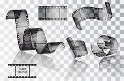 conjunto de la película fotográfica curvada Imagen de archivo libre de regalías