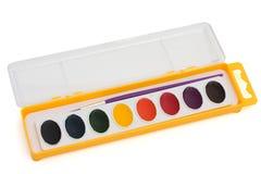 Conjunto de la pintura del color de agua Imagen de archivo libre de regalías