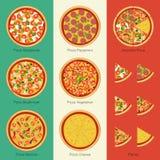 Conjunto de la pizza Fotos de archivo