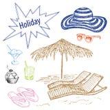 Conjunto de la playa Libre Illustration