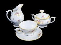 Conjunto de la porcelana del té fotografía de archivo libre de regalías