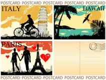 Conjunto de la postal Fotografía de archivo libre de regalías