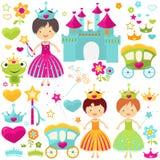 Conjunto de la princesa Foto de archivo libre de regalías