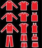 Conjunto de la ropa de sport Fotografía de archivo libre de regalías