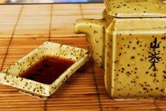 Conjunto de la salsa de soja Imagenes de archivo