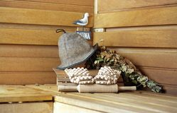 Conjunto de la sauna Foto de archivo
