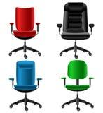 Conjunto de la silla de la oficina stock de ilustración