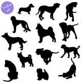 Conjunto de la silueta de los perros Vector ilustración del vector