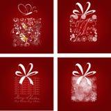 Conjunto de la tarjeta de Navidad Fotos de archivo