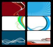 Conjunto de la tarjeta de visita ilustración del vector