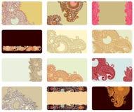 Conjunto de la tarjeta de visita Imagen de archivo libre de regalías