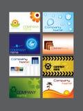 Conjunto de la tarjeta de visita stock de ilustración