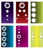 Conjunto de la tarjeta de visita de los anillos y de los botones Imagenes de archivo