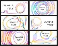 Conjunto de la tarjeta de visita del vector Fotografía de archivo libre de regalías
