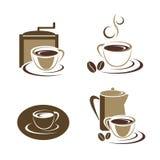 Conjunto de la taza de caf Fotos de archivo