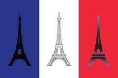 Conjunto de la torre Eiffel tres Imagen de archivo